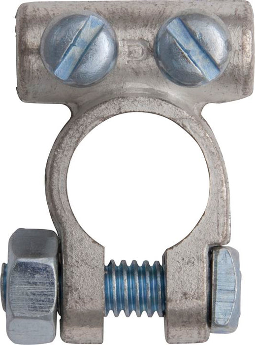 Battery Terminal Clamp - Twin Screw - up to 25mm² (12v) - Positive (+) - JAR UK Industries