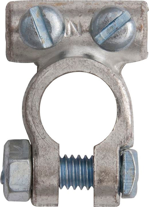 Battery Terminal Clamp - Twin Screw - up to 25mm² (12v) - Negative (-) - JAR UK Industries