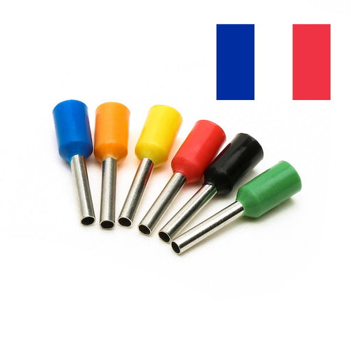 Cord End / Bootlace Terminals (Single Entry) French Colours (Pack 10, 100 or 1000)