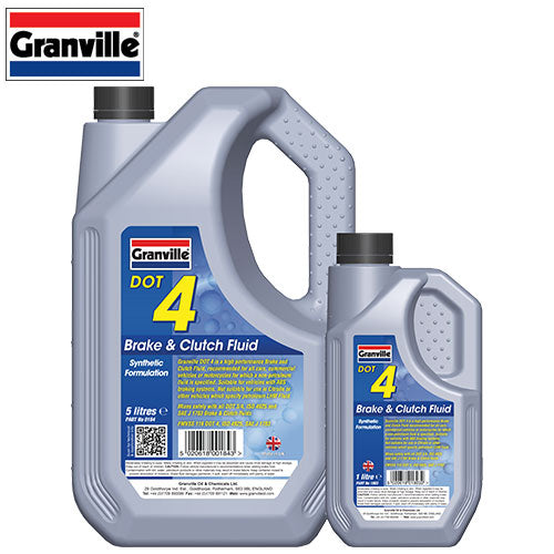 Granville Brake & Clutch Fluid Dot 4  500ml - 1 Ltr - 5 Ltr - 25 Ltr - 205 Ltr - JAR UK Industries