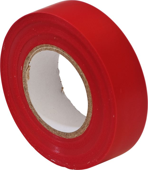 PVC Insulation Tape - Red - 19mm x 20m - JAR UK Industries