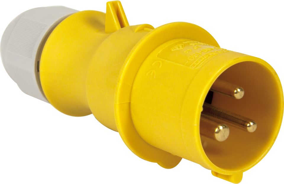 110v Hook-Up Plug - Yellow - 16A - JAR UK Industries