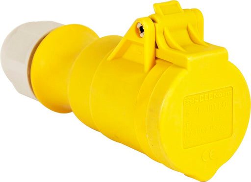 110v Coupler - Yellow - 16A - JAR UK Industries