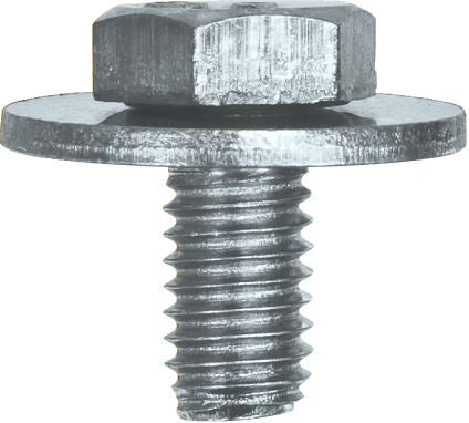 Hex Bolt Screw (Flat) with Captive Washer - M6 x 10 (Washer ⌀ 12mm) - JAR UK Industries