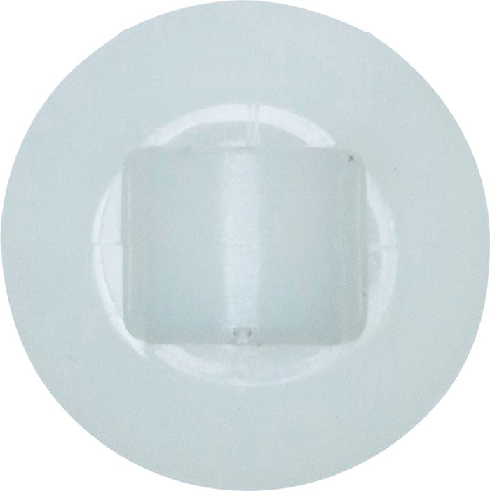 Trim Clip Bumper - White | 19mm x 17mm x 6mm | PSA, Renault - JAR UK Industries
