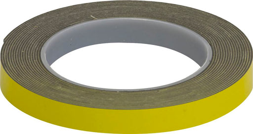 Double Sided Foam Tape - Yellow - 12mm x 5m - JAR UK Industries