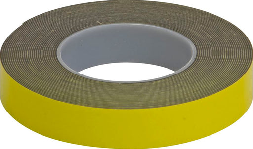 Double Sided Foam Tape - Yellow - 25mm x 10m - JAR UK Industries