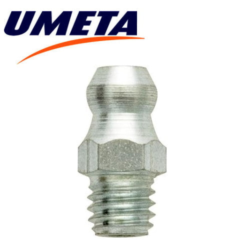 Grease Nipples Straight - M6 x 1.00mm - Metric - UMETA - JAR UK Industries