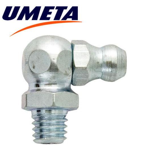 "Grease Nipples Angled 90 Degrees - 1/4"" UNF - Imperial - UMETA - JAR UK Industries"
