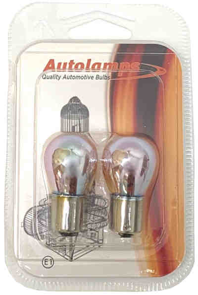 581 Bulb - Silver Style Chrome Indicator Twin Pack - BAU15s - 12v 21w - Autolamps (E1) - JAR UK Industries