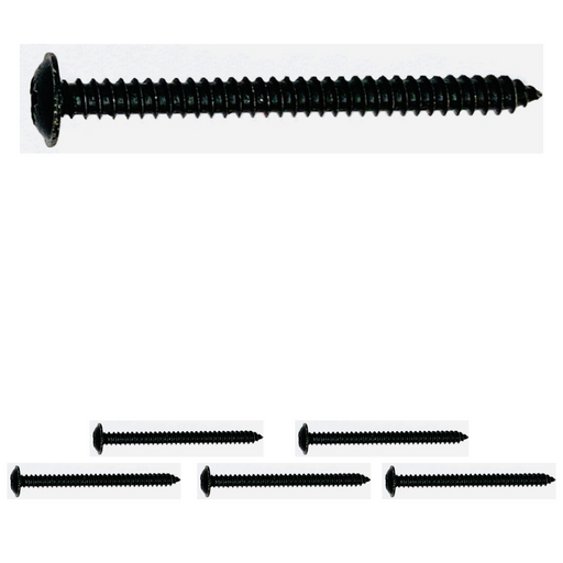 "Black Cab Door Panel Screws (Long) - No.8 x 2"" (4.2 x 50mm) 
