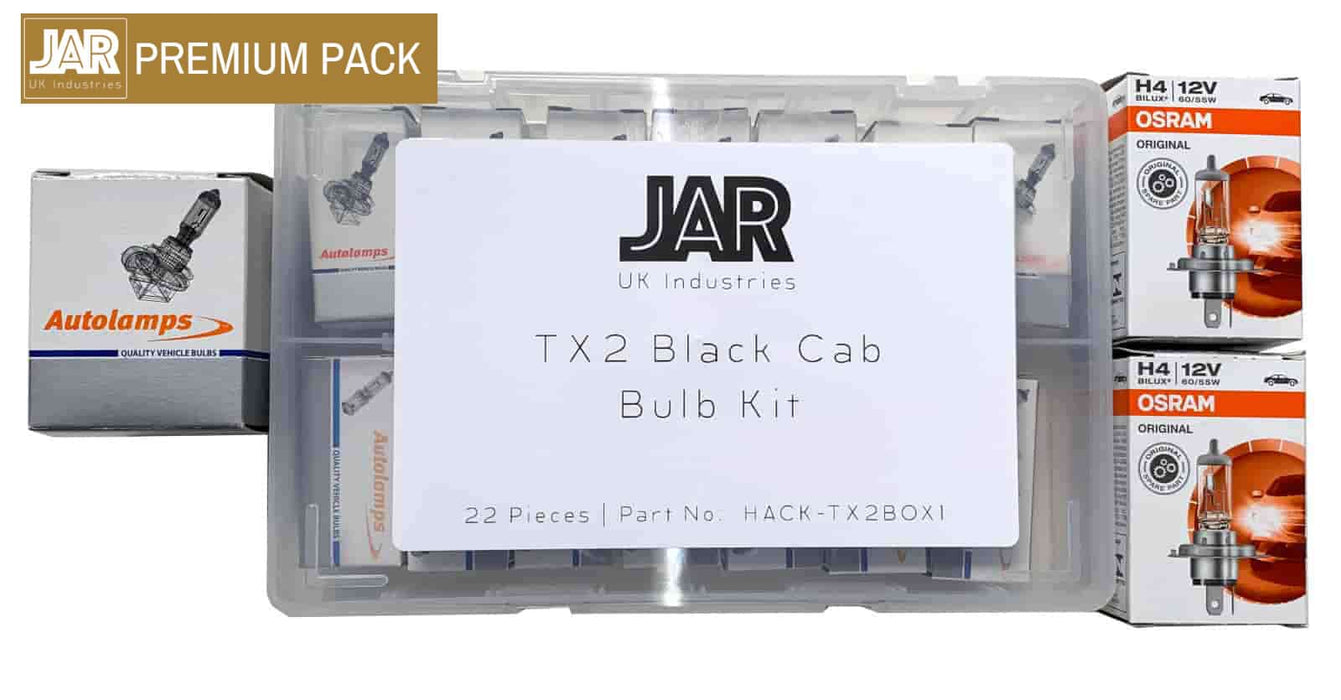TX2 Black Cab Bulb Glovebox Kit Assortment Pack (SAVE 37%) - JAR UK Industries