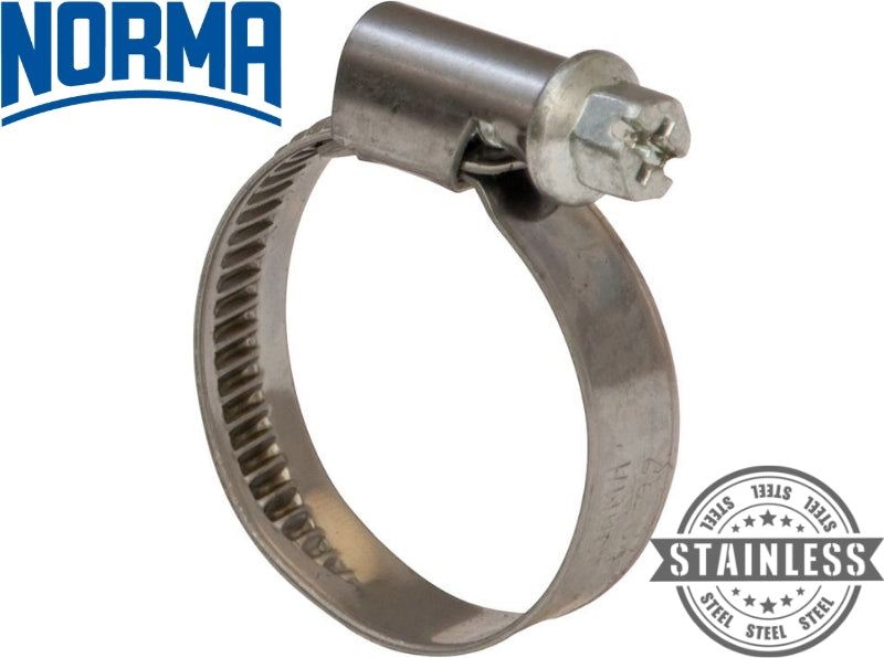 NORMA Hose Clips (Narrow Band) - 430 Stainless Steel W2 Band - Choose Size & Pack Quantity - JAR UK Industries