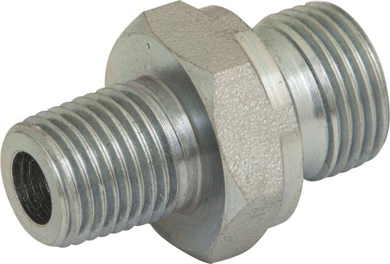 "Hydraulic BSPP/BSPT Adaptor - M : M - 3/8"" : 1/2"" - JAR UK Industries"