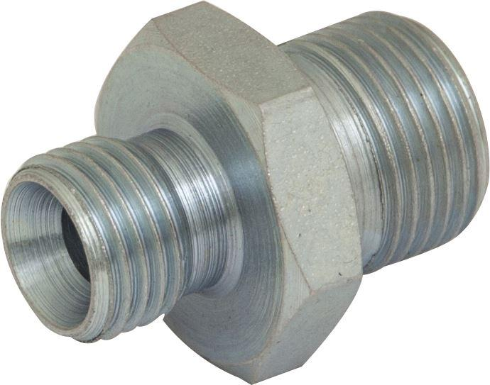 "Hydraulic BSPP Adaptor - M : M - 1/2"" : 1/2"" - JAR UK Industries"