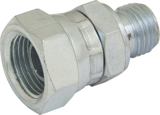 "Hydraulic BSPP Swivel Adaptor - M : F - 3/8"" : 1/4"" - JAR UK Industries"