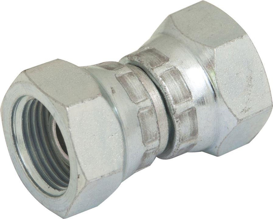 "Hydraulic BSPP Swivel Adaptor - Female : Female - 1/2"" - 1/2"" - JAR UK Industries"
