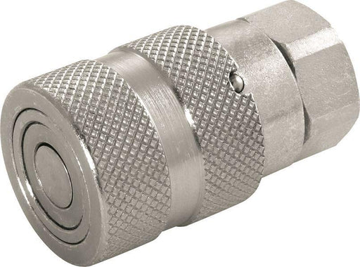 "Hydraulic Steel Flat Face Coupling - Carrier (Female) - 3/4"" - JAR UK Industries"