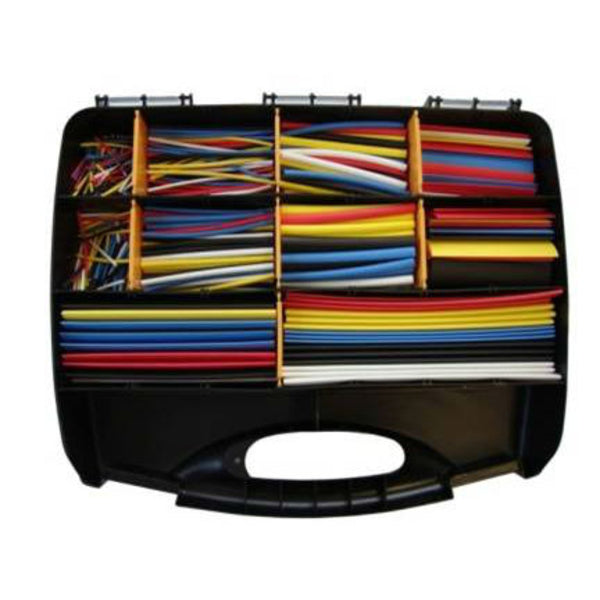 Coloured Heatshrink Tubing Kit - 2:1 Shrink Ratio - 590 Pieces
