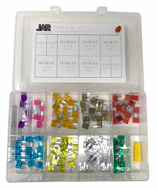 Mini Blade Fuse Collection | Assortment - JAR UK Industries