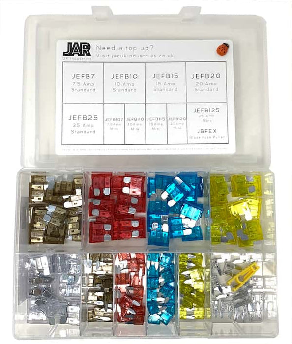 Standard & Mini Blade Fuse Collection | Popular Types | Assortment - JAR UK Industries