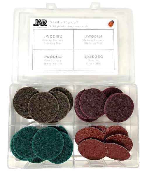 Blending and Sanding Disc Collection - 50mm | Assortment - JAR UK Industries