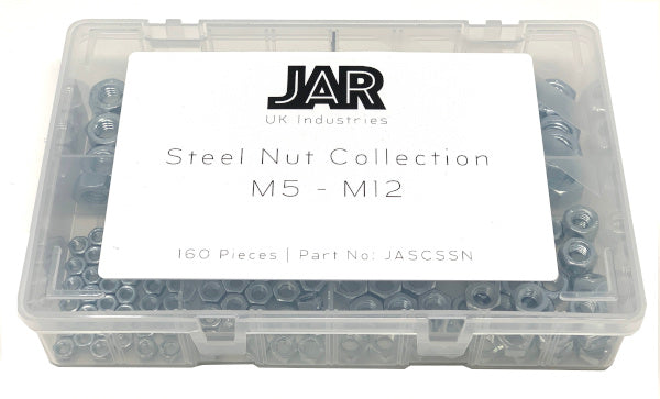 Steel Nut Collection | M5 - M12 | Assortment - JAR UK Industries