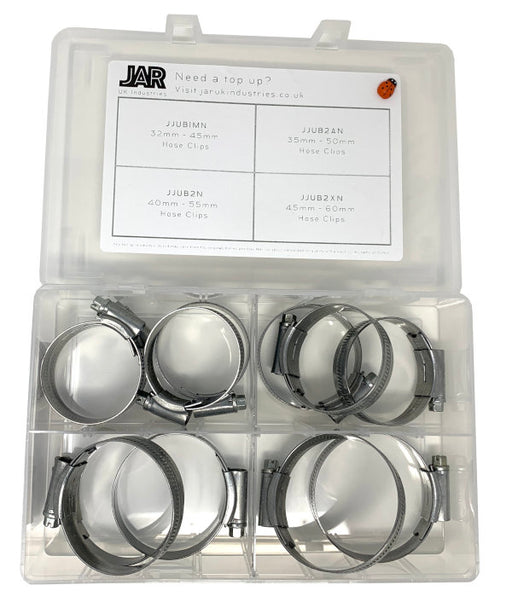 Jubilee Clip Collection | 32mm - 60mm | Assortment - JAR UK Industries