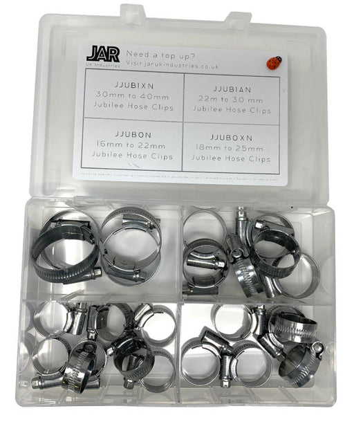 Jubilee Clip Collection | 16mm - 40mm | Assortment - JAR UK Industries