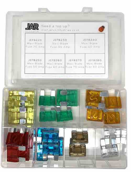 Maxi Blade Fuse Collection | Assortment - JAR UK Industries
