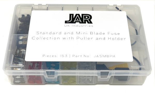 Standard and Mini Blade Fuse Collection and Holder | Popular Types | Assortment - JAR UK Industries