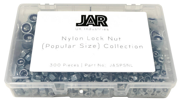 Nylon Lock Nut Collection | M6 to M12 | Assortment - JAR UK Industries