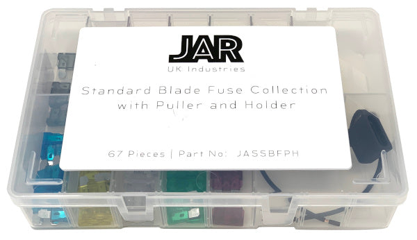 Standard Blade Fuse Collection and Holder | Assortment - JAR UK Industries