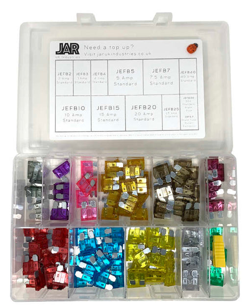 Standard Blade Fuse Collection | Assortment - JAR UK Industries