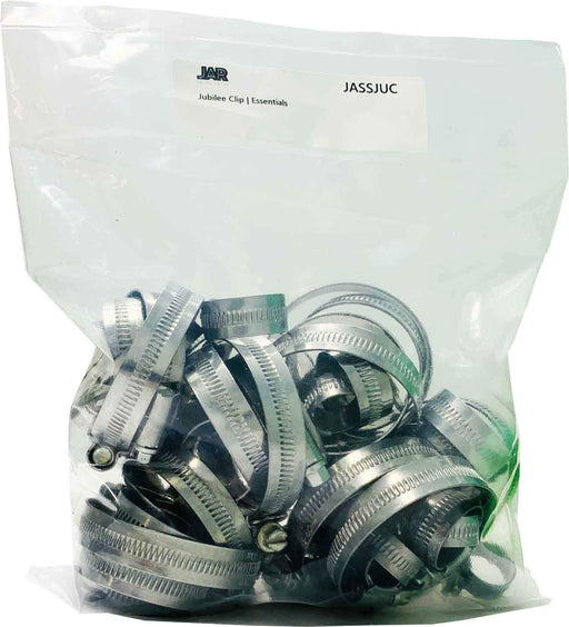 Jubilee Clips (Mild Steel) | Mixed Assortment | Popular Sizes | Essentials - JAR UK Industries