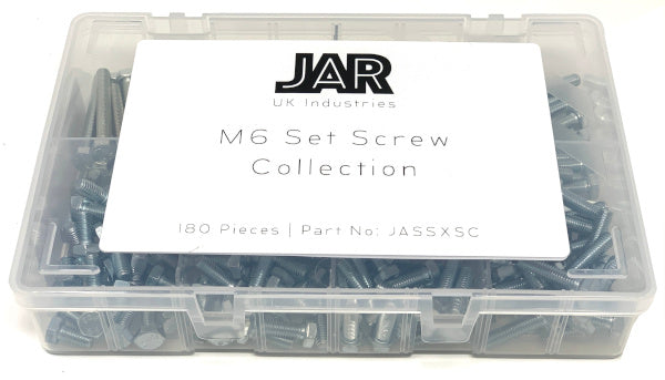M6 Set Screw Collection | 12mm to 50mm | Assortment - JAR UK Industries