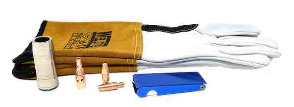 Mig Welding Accessory Kit with Tig Gaunlets Assortment - JAR UK Industries