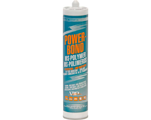 VIP 'Power Bond' Seam Sealer MS-Polymer Sealant/Bonder - Grey - 310ml Cartridge - JAR UK Industries