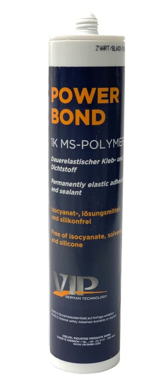 VIP 'Power Bond' Seam Sealer MS-Polymer Sealant/Bonder - Black - 310ml Cartridge - JAR UK Industries