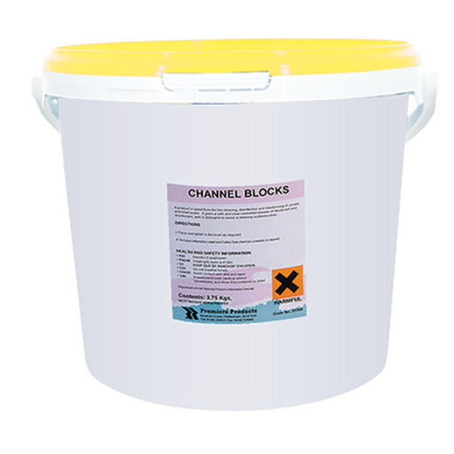 Urinal Channel Blocks - Lemon Scented (3 kg Tub)