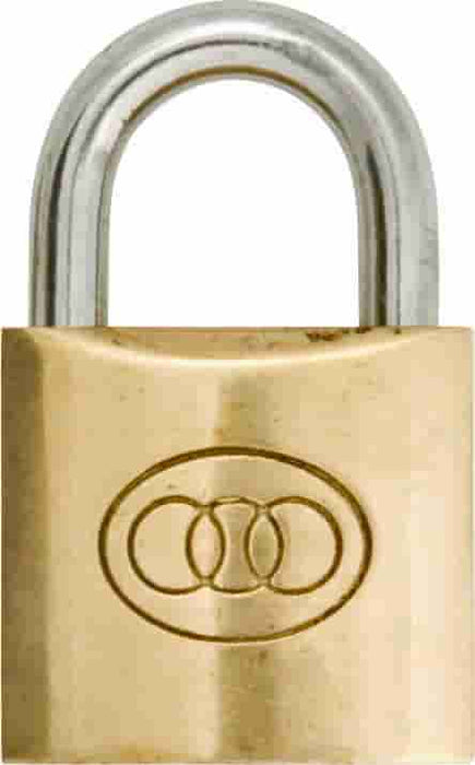 |X| - Brass Padlock - Tri-Circle - JAR UK Industries