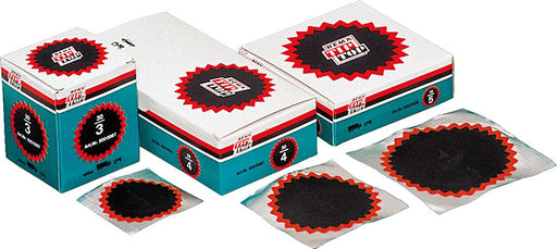 REMA TIP TOP Tube Patches - Red Edge, Round (Choose Size) - JAR UK Industries