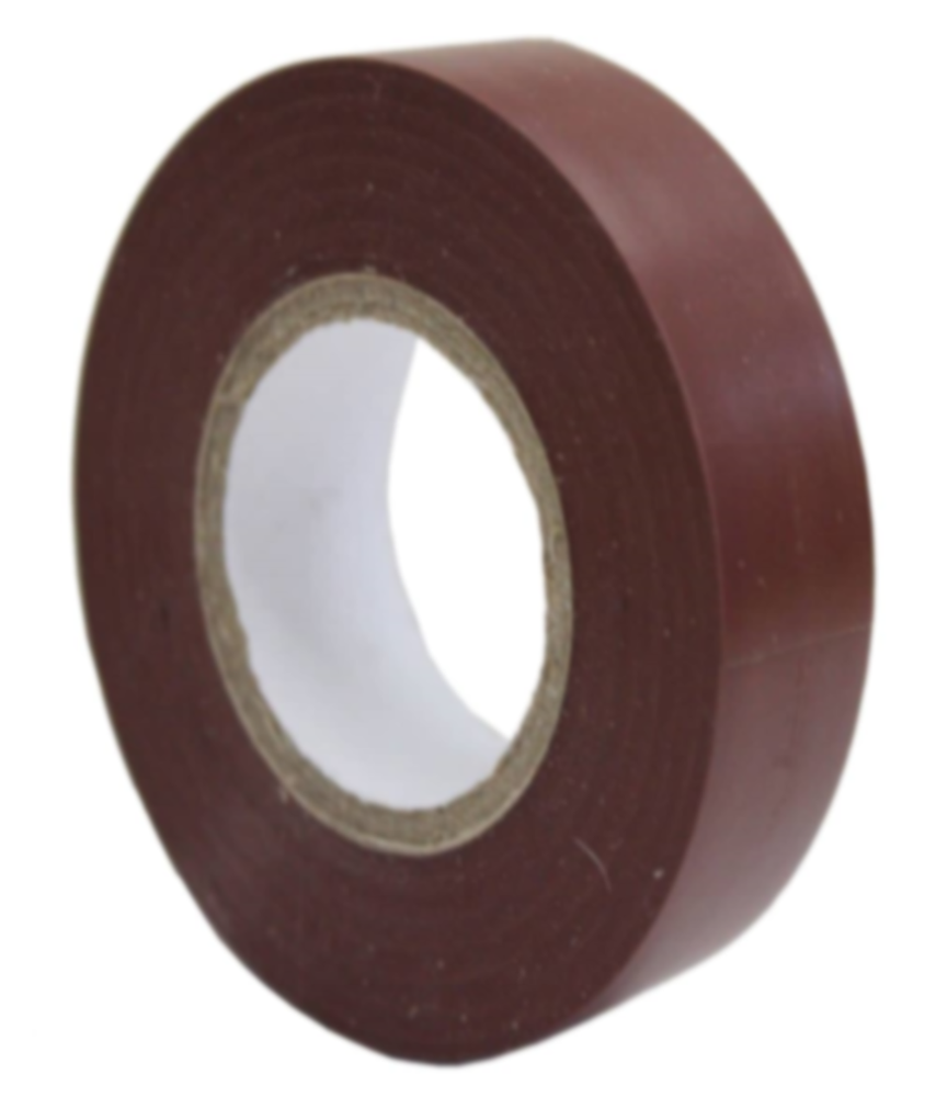 PVC Insulation Tape - Brown - 19mm x 20m - JAR UK Industries