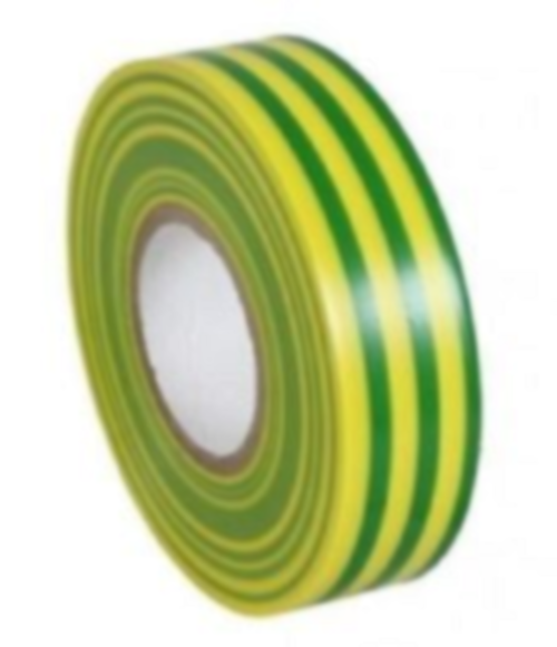 PVC Insulation Tape - Earth (Green/Yellow) - 19mm x 20m - JAR UK Industries