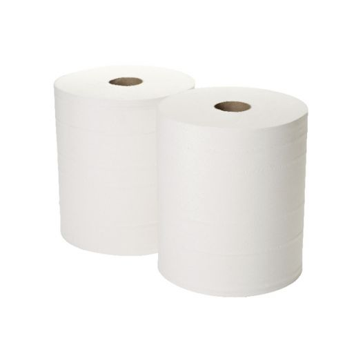 Centrefeed White Rolls (Large Jumbo Forecourt) 2 Ply 400m (Pack of 2)