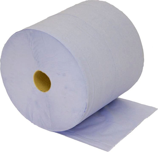 Centrefeed Blue Rolls (Large Jumbo Forecourt) 2 Ply 400m (Pack of 2)