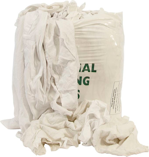 Rags in a Bag - General Purpose / Low Lint - White - 10kg
