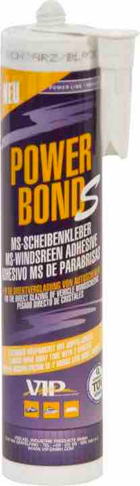 VIP 'Power Bond S' Windscreen MS-Polymer Sealant/Bonder - Black - 310ml Cartridge - JAR UK Industries