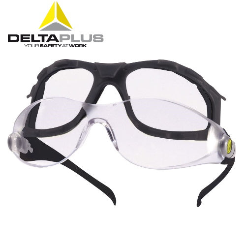 LyViz Coated Single Lens Easy Clean Safety Glasses - Deltaplus