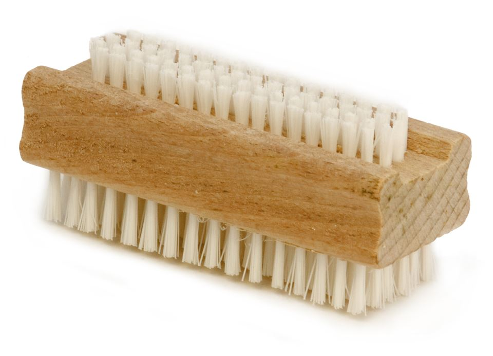 Nail Brushes with Wooden Handles (Pack of 3)